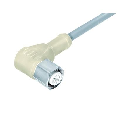 77-3734-0000-20403–0200 Dose Rund M12 3p mit Kabel 2m - BINDER - Compona