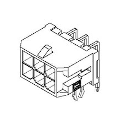 Header, Dual Row, 90°, 16p, Tin Plating Snap-in Peg PCB Lock, GW Compatible